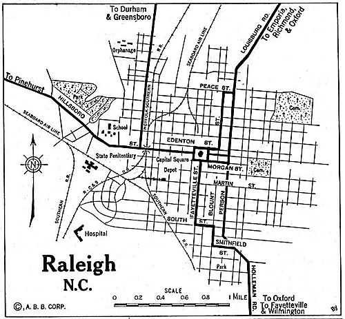 Raleigh_nc_1920 auto blue book map